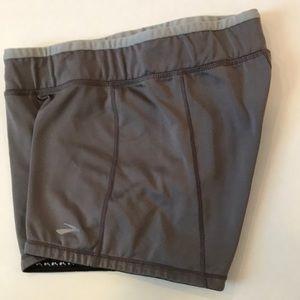 Brooks gray running booty shorts